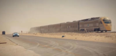 Car beats train in Saudi desert race