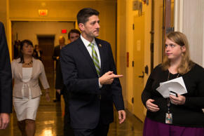 Rep. Paul Ryan, R- Wis., arrives for a meeting on Capitol Hill in Washington, Thursday, Oct. 8, 2015, where Republicans were to nominate candidates to replace outgoing House Speaker John Boehner.