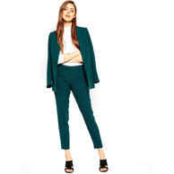 Ankle grazer cigarette trouser, $63, Slim Jacket, $94, Asos