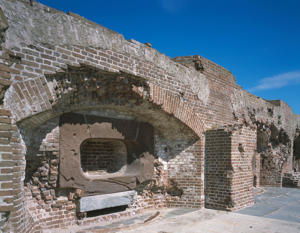 Walls of Fort Sumter, Charleston, South Carolina.