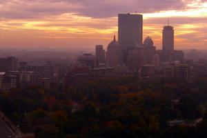 Boston, Massachusetts skyline.