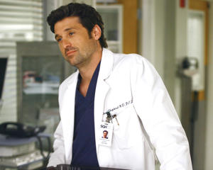 "Patrick Dempsey in a still from ""'Grey's Anatomy."""