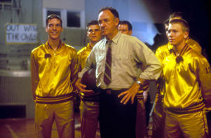 Gene Hackman in a still from 'Hoosiers.'