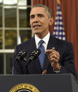 U.S. President Barack Obama speaks about counter-terrorism and the United States...