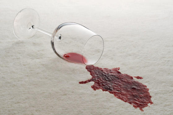Few things are better than a glass of red wine after a long day, except of course when that vino spills on your carpet. In that case, quickly grab vinegar and baking soda. Pour the vinegar over the stained area and then sprinkle baking soda on top. The two work together to soak up the stain so that spill can stay a secret.