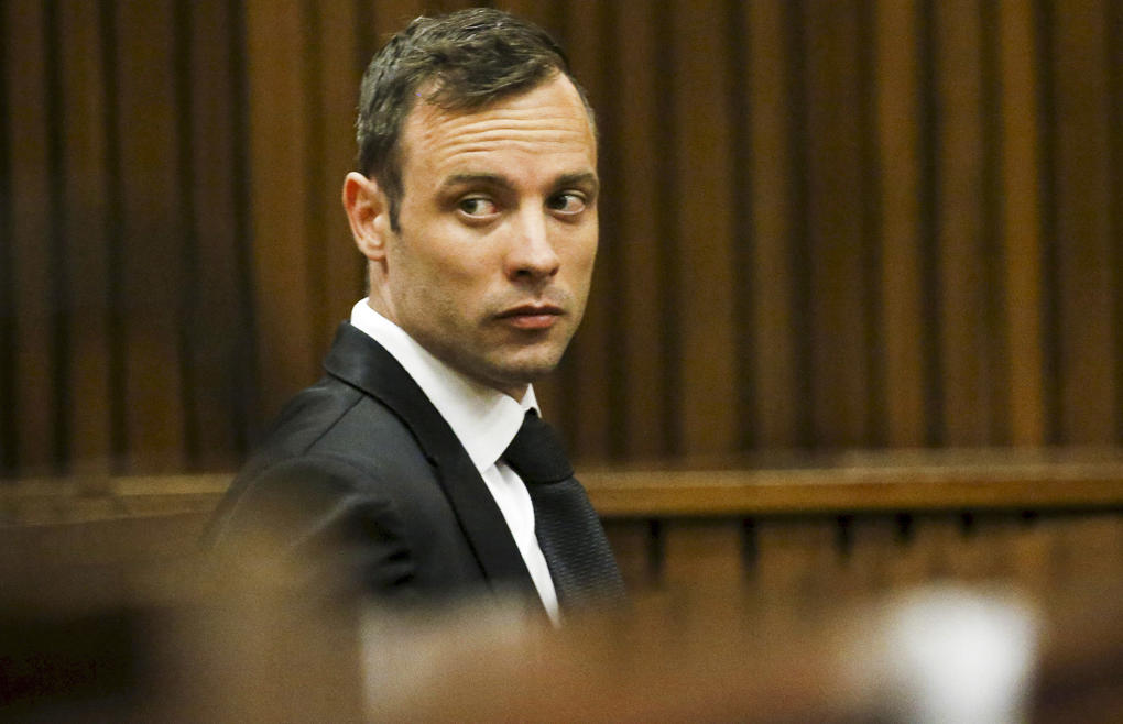 "<span style=""font-size:13px;"">Oscar Pistorius sits in the dock at the North Gauteng High Court in Pretoria, South Africa, for a bail hearing.</span>"