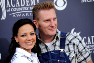"In this April 3, 2011, file photo, Joey Martin Feek, left, and husband Rory Lee Feek, of ""Joey + Rory,"" arrive at the Annual Academy of Country Music Awards in Las Vegas, Nev."