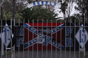 Supplied image of the Rebels Motorcycle gang clubhouse in Sydney