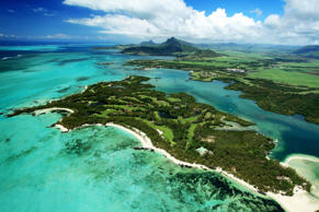 TROU D'EAU DOUCE, MAURITIUS - FEBRUARY 07:  An aerial view of the Le Touessrok Golf Course on the Isle au Cerfs at the Le Touessrok Resort on February 7, 2012 in Trou D'eau Douce, Mauritius.  (Photo by David Cannon/Getty Images)