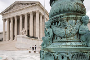 The Supreme Court in Washington is seen Tuesday, May 31, 2016, as the justices ruled unanimously that a Minnesota company could file a lawsuit against the U.S. Army Corps of Engineers over the agency's determination that its land is off limits to peat mining under the Clean Water Act.