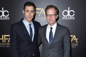 Screenwriters Josh Singer (left) and Tom McCarthy