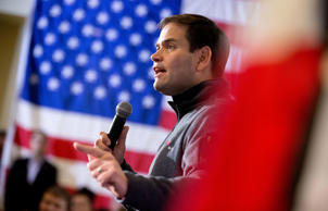 Republican presidential candidate, Sen. Marco Rubio, R-Fla., speaks at Rastrelli's Tuscany Special Events Center in Clinton, Iowa, Tuesday, Dec. 29, 2015. Andrew Harnik/AP