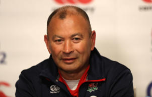 Eddie Jones during the England media conference held yesterday in Melbourne.