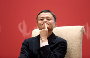 Founder and Executive Chairman of Alibaba Group Jack Ma at the China Development Forum in Beijing.