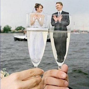 Cheers to the newlyweds!