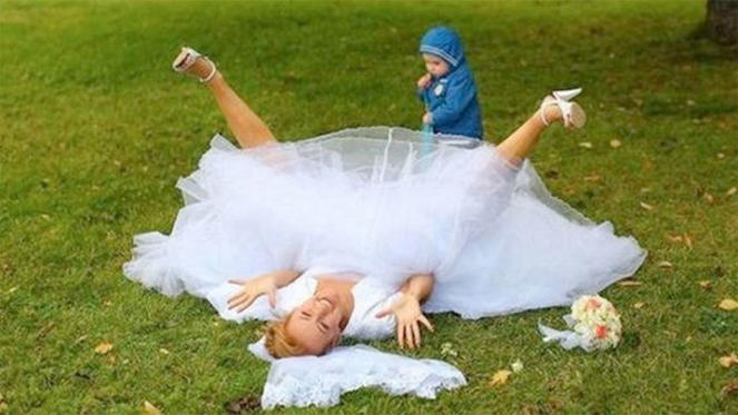 Hopefully this child doesn't get a negative view of marriage!