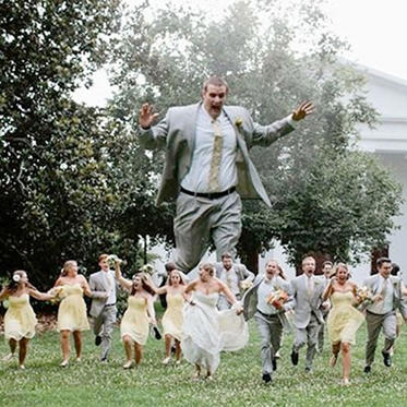 The magic is over: the groom is back to normal size and scaring everyone.
