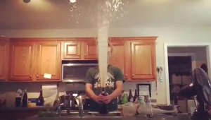 Homemade soda explosion ends in epic disaster