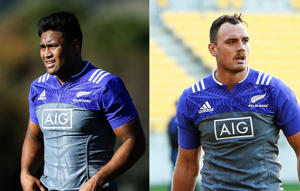 Julian Savea (left) and Israel Dagg, pictured at an All Blacks training sessions.