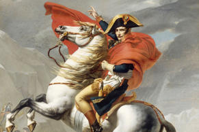 Napoleon Bonaparte Crossing the Grand Saint-Bernard Pass.