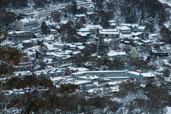 THREDBO, NSW - JUNE 25: Thredbo village covered in 70cm of snow this week, ready for the first weekend of the season on June 25, 2016 in Thredbo Village, Australia. Snow has been forecast across Eastern Australia as cold front continues to bring low temp