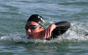 Open water swimmer Kane Radford