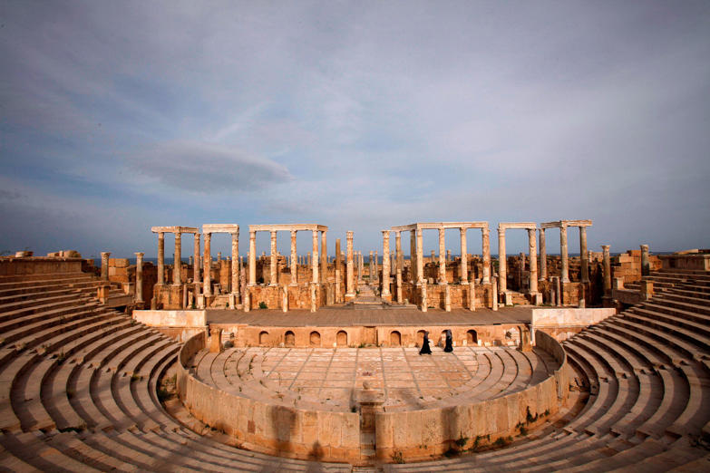 A view of Leptis Magna, a UNESCO World Heritage site on the Mediterranean coast of North Africa, some 120 km (75 miles) east of Tripoli, November 8, 2011.