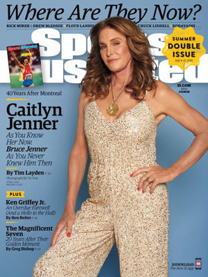 Sports Illustrated cover with Caitlyn Jenner that is on sale now.