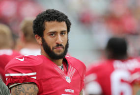 49ers Quarterback Colin Kaepernick during the NFL game between The San Francisco...