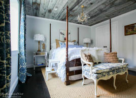 "<p>To create a memorable focal point in an otherwise forgettable bedroom, the DIY duo behind <a href=""http://www.heatherednest.com/2014/09/oh-what-feelingweve-got-barn-board-on.html"">The Heathered Nest</a> chose to put up a reclaimed wood ceiling. The <a href=""http://www.bobvila.com/slideshow/21-clever-little-things-to-do-with-scrap-wood-49986"">salvaged wood</a> of choice for this down-home yet sophisticated retreat: barn wood boards, installed against a freshly painted black ceiling, that instantly infused the room with rustic charm. Estimated cost: $150, plus the price of the reclaimed wood.</p><br><p><strong>Related: <a href=""http://www.bobvila.com/slideshow/better-your-builder-grade-home-with-12-old-house-details-49835"">Better Your Builder-Grade Home with 12 Old-House Details</a></strong></p>"