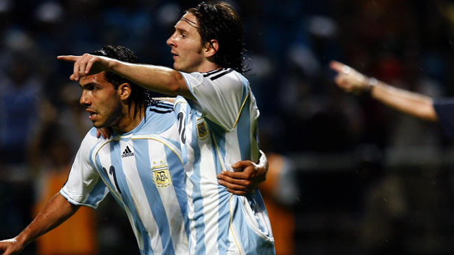 Todos los goles de Messi con la selección en imágenes.