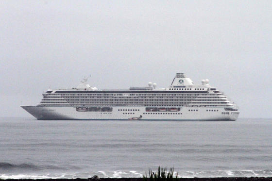 <p>This Aug. 21, 2016, photo shows the luxury cruise ship Crystal Serenity anchored just outside Nome, Alaska.</p>