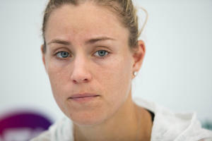 Angelique Kerber of Germany after her loss.