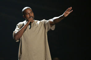 In this Aug. 30, 2015, file photo, Kanye West accepts the video vanguard award at the MTV Video Music Awards at the Microsoft Theater in Los Angeles.