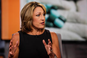 FILE: Heather Bresch, chief executive officer of Mylan NV, speaks during a Bloomberg Television interview in New York, U.S., on Thursday, Aug. 6, 2015.