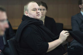 German tech entrepreneur Kim Dotcom appears in an Auckland court, December 23, 2015.
