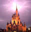 Lightening strikes Cinderella's castle