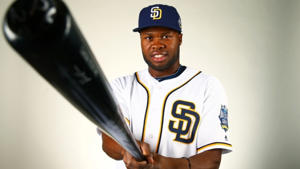 Feb 26, 2016; Peoria, AZ, USA; San Diego Padres outfielder Manuel Margot poses for a portrait during photo day at Peoria Stadium. Mandatory Credit: Mark J. Rebilas-USA TODAY Sports