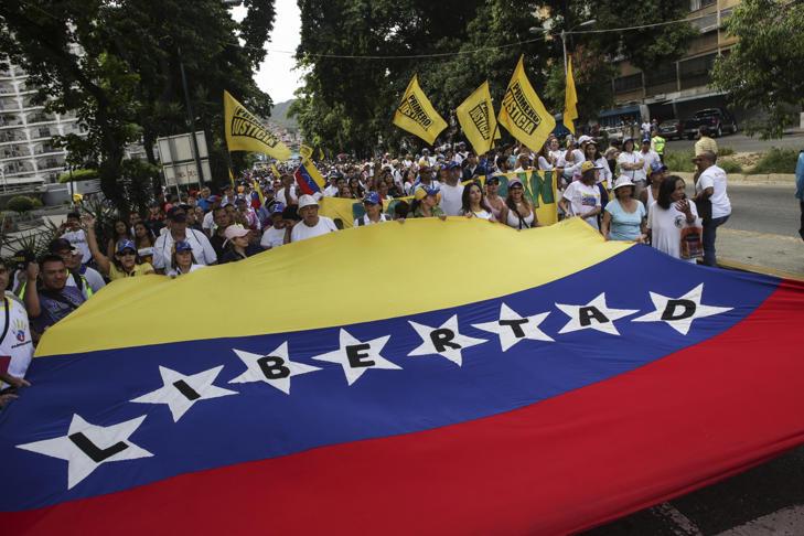 La marcha histórica de la oposición venezolana