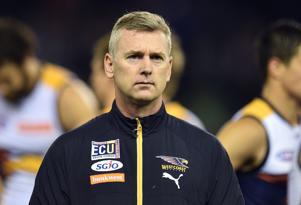 Coach of the Eagles Adam Simpson