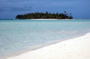 An Islet and beach off Aitutaki, Cook Islands