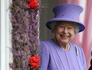 Queen Elizabeth II attends the Braemar Royal Highland Gathering at the Princess Royal and Duke of Fife Memorial Park, Braemar