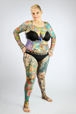 Most Tattooed Senior Citizen- Charlotte Guttenberg
