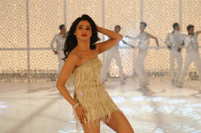 "Tamannaah Bhatia snapped during the shoot of Tamil film ""Kaththi Sandai"".<br />"