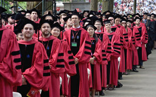 General atmosphere at the Harvard University 2015 Commencement at Harvard University on May 28, 2015 in Cambridge, Massachusetts.