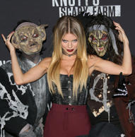 AnnaLynne McCord attends the Knott's Scary Farm Black Carpet on September 30, 2016 in Los Angeles, California.