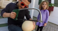 Is this the world's biggest hardboiled egg?