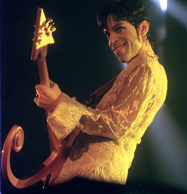 PA NEWS PHOTO 3/3/95 PRINCE DURING HIS OPENING CONCERT OF HIS FIRST BRITISH TOUR...