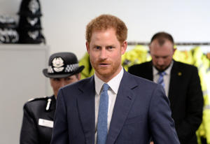 Prince Harry visit to Nottingham, UK - 26 Oct 2016 Prince Harry at the opening of Nottingham's new Central Police Station during a day of visits to the city focused on young people and communities
