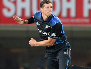 New Zealand's bowler Mitchell Santner